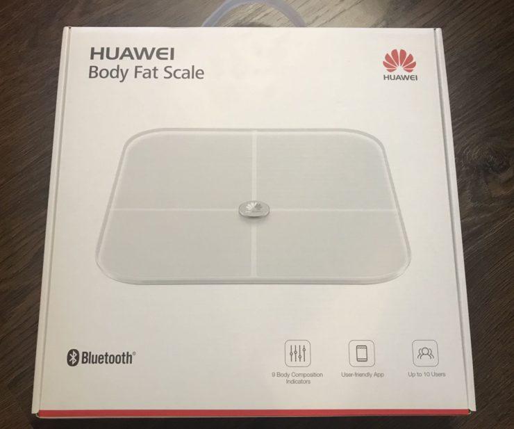 коробка от весов huawei fat body scale